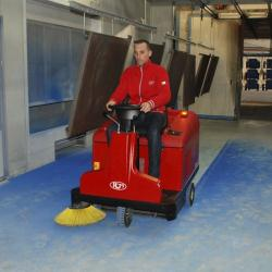 RCM Atom Plus Rider Sweeper - COMPACT! Small to Medium Areas - Indoor & Outdoor